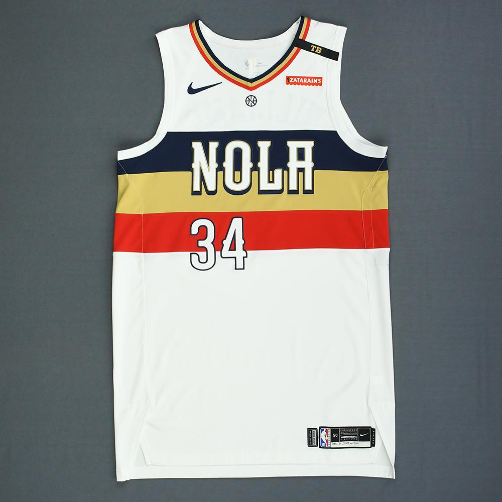 brand new 4449f 95674 Kenrich Williams - New Orleans Pelicans - Game-Issued Earned ...