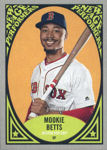 Photo of 2019 Topps Heritage New Age Performers #NAP2 Mookie Betts