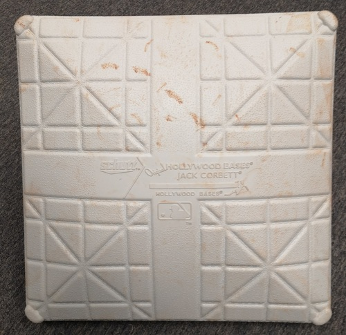 Photo of Authenticated Game Used Canada Day Base - 3rd Base for Innings 1 to 3 and 7 to 9. June 28 - July 1, 19. In place for Vladimir Guerrero Jr's 8th Career Home Run