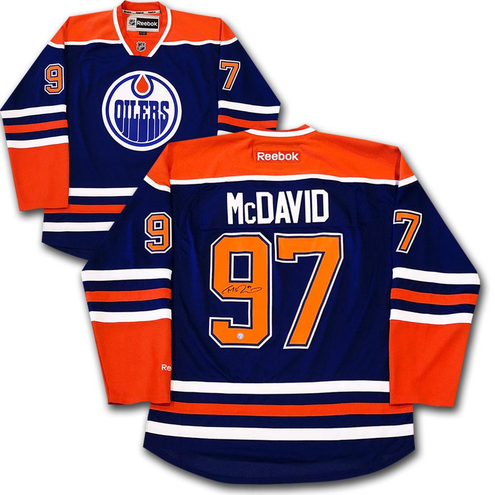 Connor McDavid Autographed Edmonton Oilers Jersey