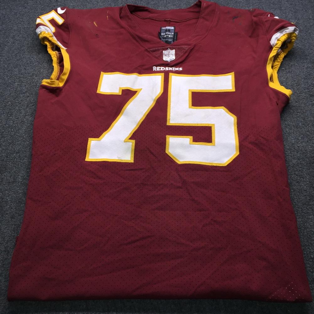 NFL Auction   Crucial Catch - Redskins Brandon Scherff Game Used ...