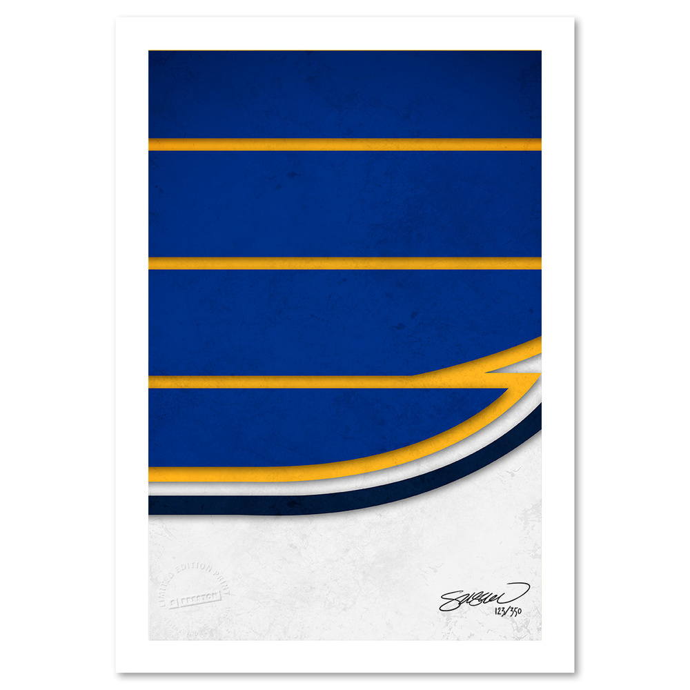 St. Louis Blues Minimalist Logo Fine Art Print by S. Preston