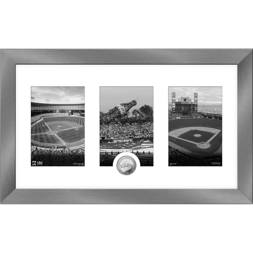 Photo of San Francisco Giants Art Deco Silver Coin Photo Mint