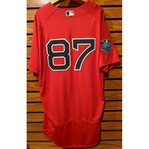 Photo of 2018 World Series Michael Brenly #87 Team Issued Red Home Alternate Jersey