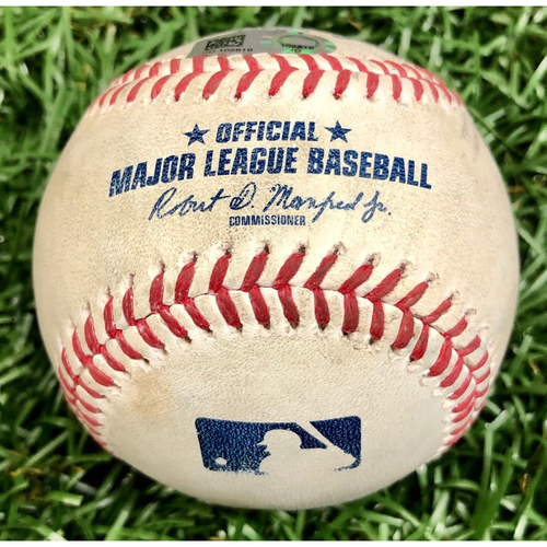 Photo of Game Used Baseball: Christian Vazquez single off Blake Snell - September 11, 2020 v BOS