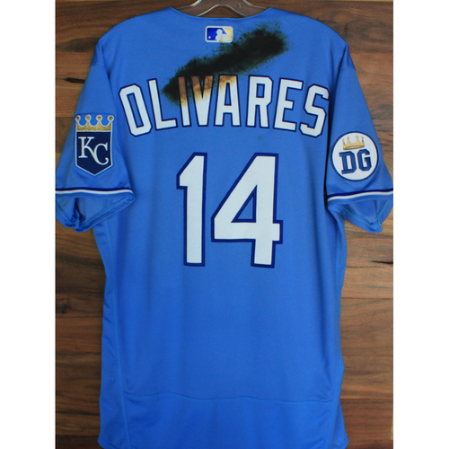 Photo of Alex's Lemonade Stand Foundation: Game-Used Edward Olivares Jersey (Size 44 - 9/26/20 DET @ KC)
