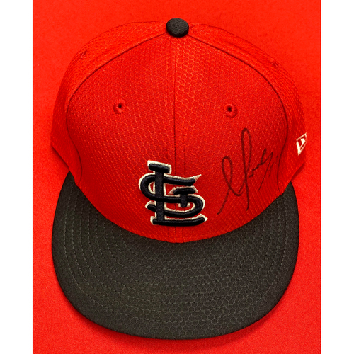Photo of Alex Reyes Autographed Team Issued Batting Practice Cap (Size 7 3/8)
