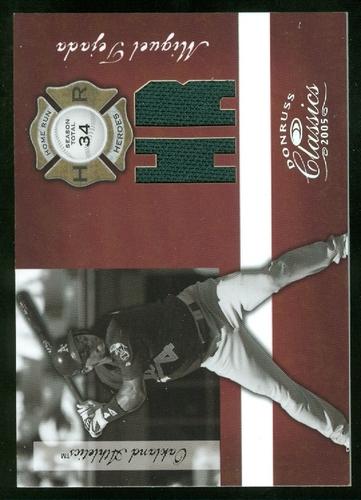 Photo of 2005 Donruss Classics Home Run Heroes Jersey HR #42 Miguel Tejada/34