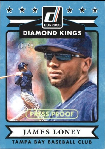 Photo of 2015 Donruss Press Proofs Gold #27 James Loney DK