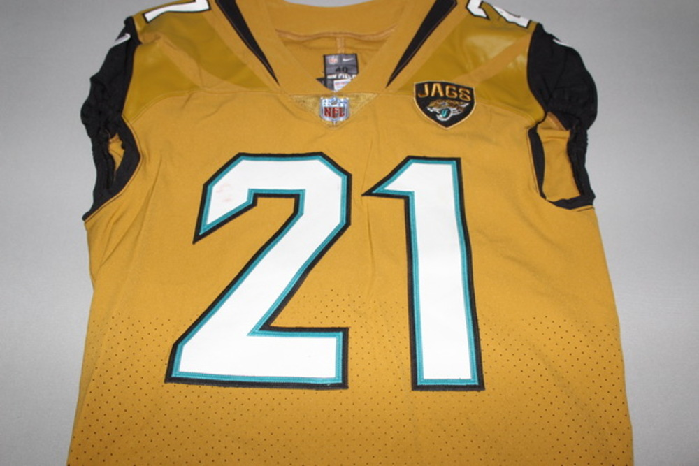 JAGUARS - PRINCE AMUKAMARA GAME WORN JAGUARS COLOR RUSH JERSEY (OCTOBER 27 2016)