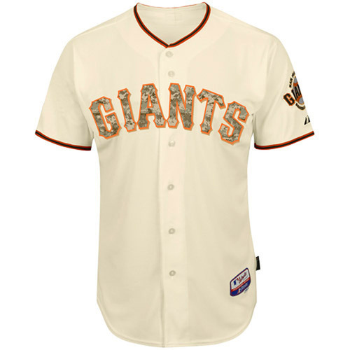 5341a888 ... San Francisco Giants Memorial Day Auction Madison Bumgarner Game-Used Camo  Jersey ...
