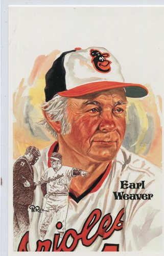 Photo of 1980-02 Perez-Steele Hall of Fame Postcards #228 Earl Weaver -- HOF Class of 1996