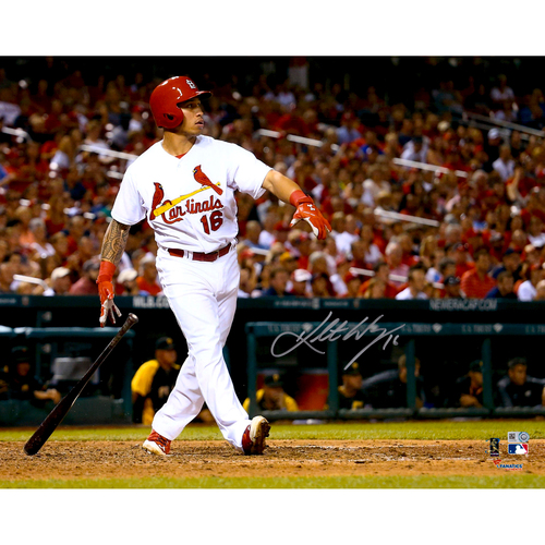 "Photo of Kolten Wong St. Louis Cardinals Autographed 16"" x 20"" Watching Home Run Photo"
