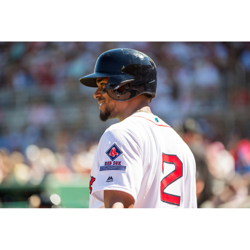 Photo of Red Sox Foundation Game Day - Xander Bogaerts Team-Issued or Game-Used and Autographed Jersey (Pre-Game Sale)