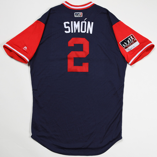 "Photo of Andrelton ""Simón"" Simmons Los Angeles Angels Game-Used 2018 Players' Weekend Jersey"