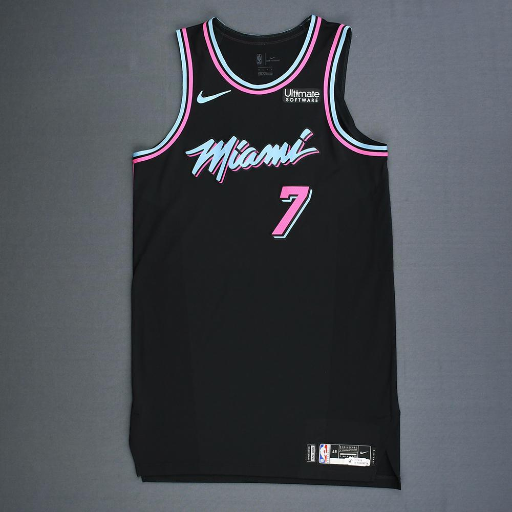 newest 66d7b 59f09 Goran Dragic - Miami Heat - Game-Worn City Edition Jersey ...