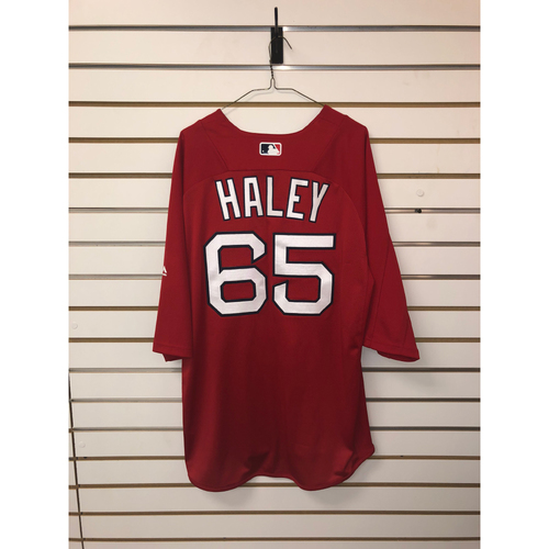 Photo of Justin Haley Team-Issued Home Batting Practice Jersey