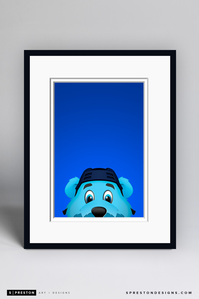 Louie - Framed Limited Edition Minimalist NHL Mascot Art Print (6/350) by S. Preston