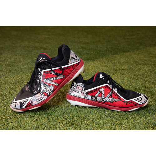 Photo of Nick Ahmed Custom Hand-Painted Space Day Themed Game-Used Cleats