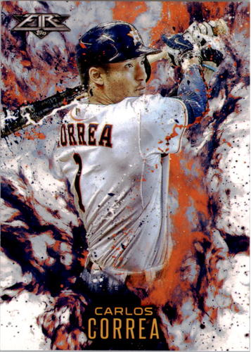 Photo of 2016 Topps Update Fire #F5 Carlos Correa