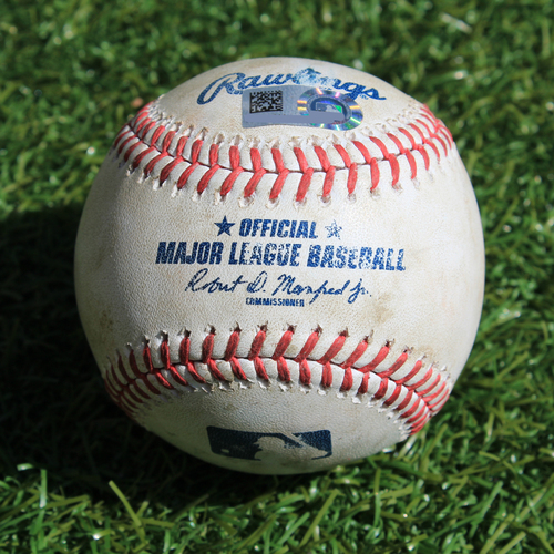 Photo of Game-Used Baseball: Bo Bichette 2nd Career Hit (TOR @ KC - 7/30/19)