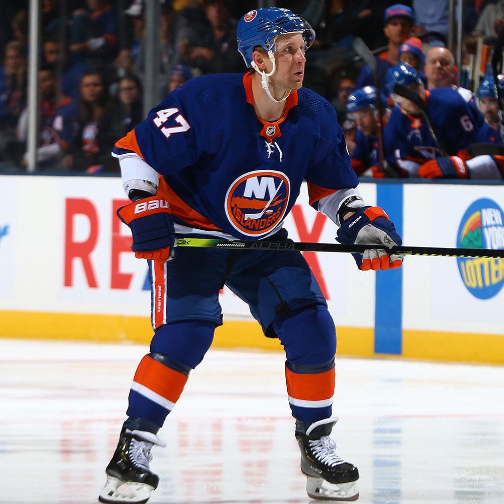 Leo Komarov- Hockey Fights Cancer Jersey Auction- New York Islanders