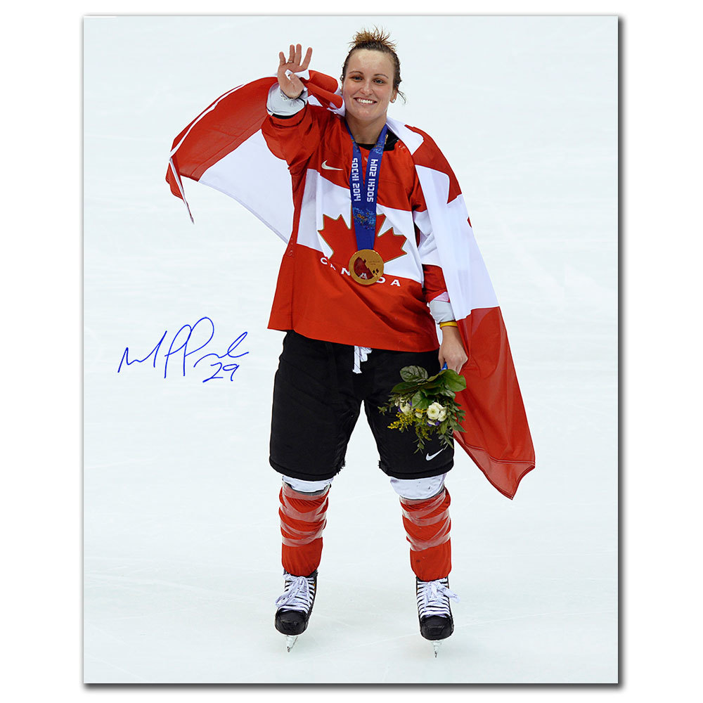 Marie-Philip Poulin Team Canada 2014 Olympics GOLD MEDAL CELEBRATION Autographed 16x20