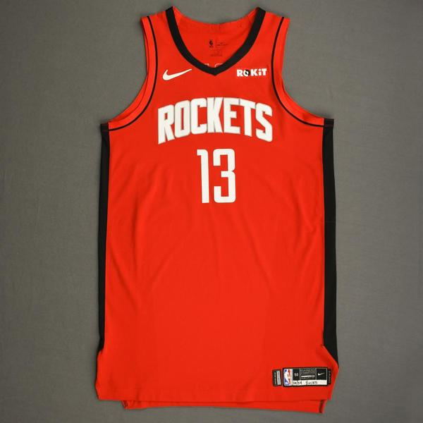 Image of James Harden - Houston Rockets - Kia NBA Tip-Off 2019 - Game-Worn Icon Edition Jersey - Double-Double