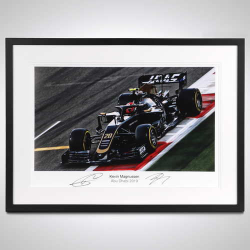 Photo of Kevin Magnussen 2019 Abu Dhabi Signed Photo Print