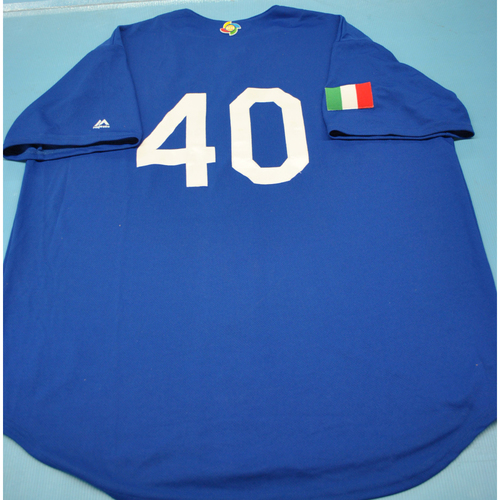 Photo of 2017 World Baseball Classic Batting Practice Jersey - Brandon Nimmo - Italy (Size XL)