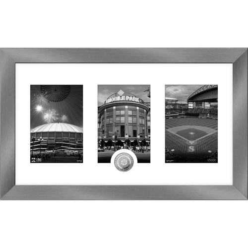 Photo of Seattle Mariners Art Deco Silver Coin Photo Mint