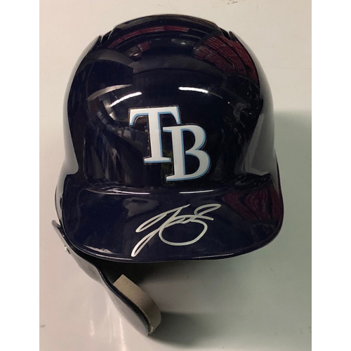 Team Issued Autographed Helmet: Tyler Glasnow