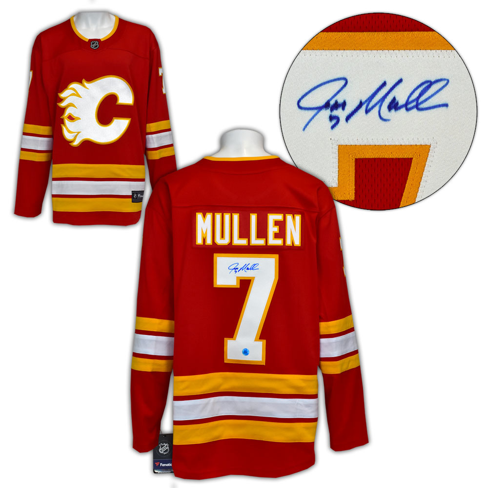 Joe Mullen Calgary Flames Autographed Retro Alternate Fanatics Hockey Jersey