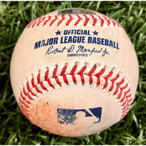 Photo of Game Used Baseball: Jackie Bradley Jr. double off Aaron Loup - September 12, 2020 v BOS