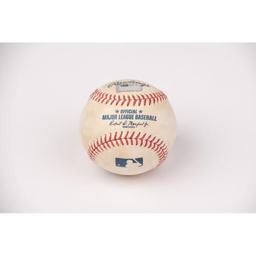 Photo of Game Used Baseball: Pitcher: Shohei Ohtani, Batter: Josh Reddick - Foul - Top 2 - 8-2-2020 vs. HOU