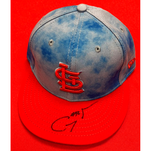 Photo of Genesis Cabrera Autographed Team Issued Father's Day Cap (Size 7 1/8)