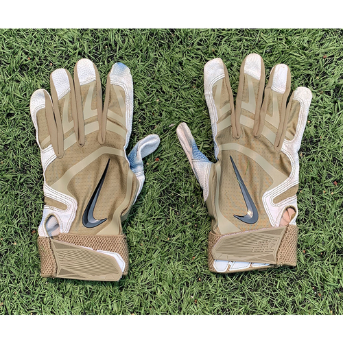 Photo of Team Issued Batting Gloves - Green Nike Model - 2021 Season