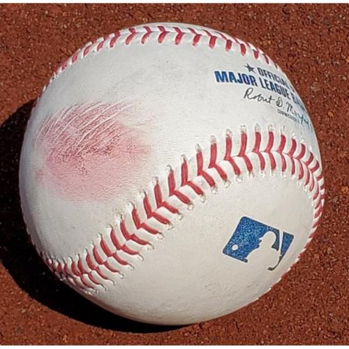 Photo of 2021 Game-Used Baseball - Bryce Harper 2-Run Home Run