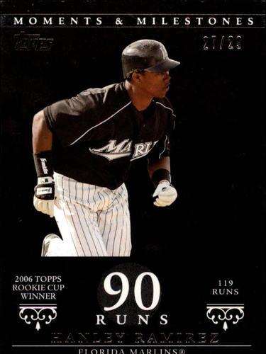 Photo of 2007 Topps Moments and Milestones Black #71-90 Hanley Ramirez/Runs 90