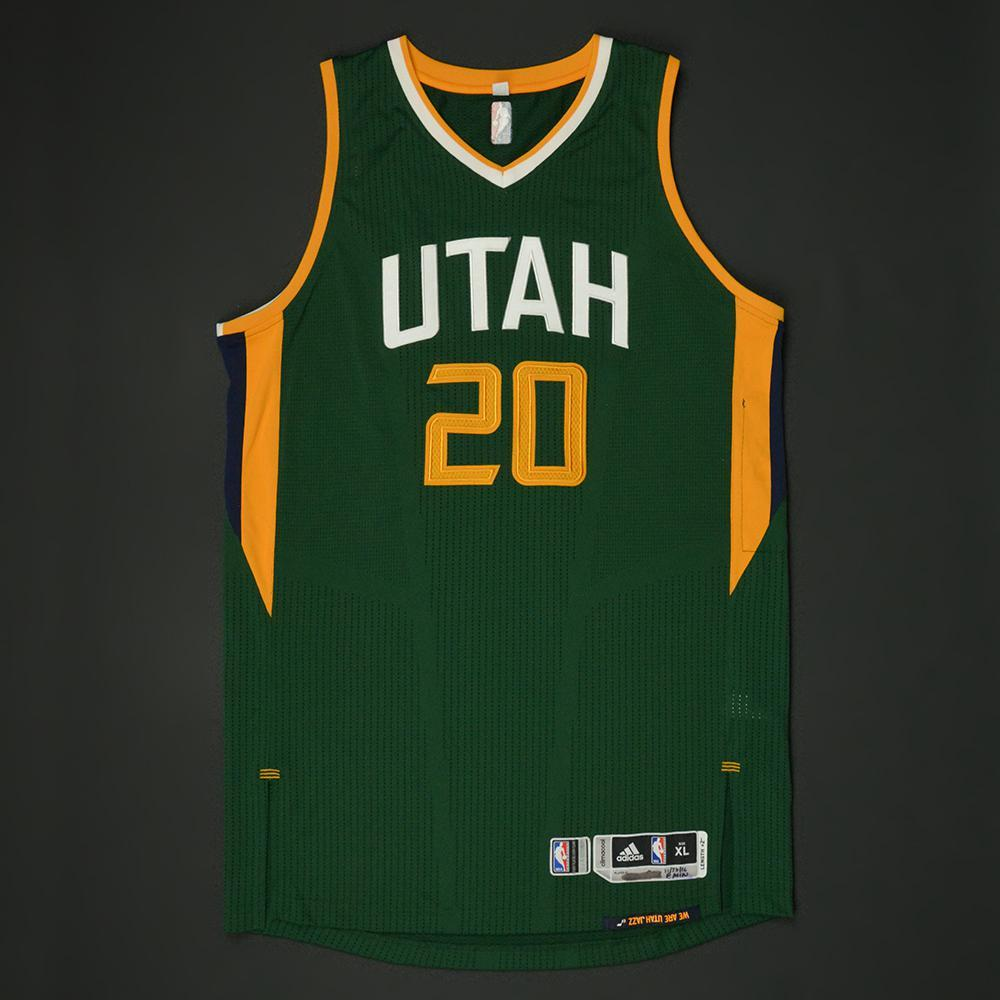 ... switzerland gordon hayward utah jazz new alternate game worn jersey  2016 17 a5261 801a3 08d665022