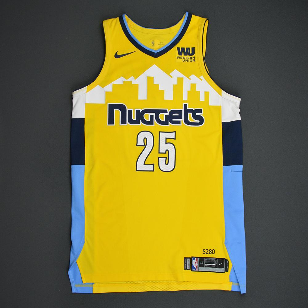 big sale d8ec5 6d83e Malik Beasley - Denver Nuggets - Statement Game-Worn Jersey ...
