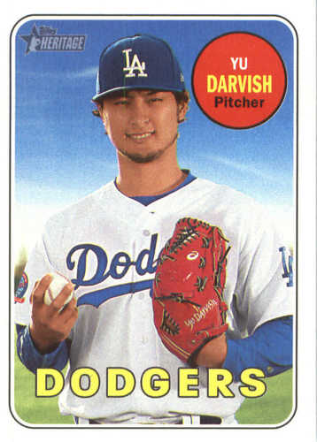 Photo of 2018 Topps Heritage #161 Yu Darvish