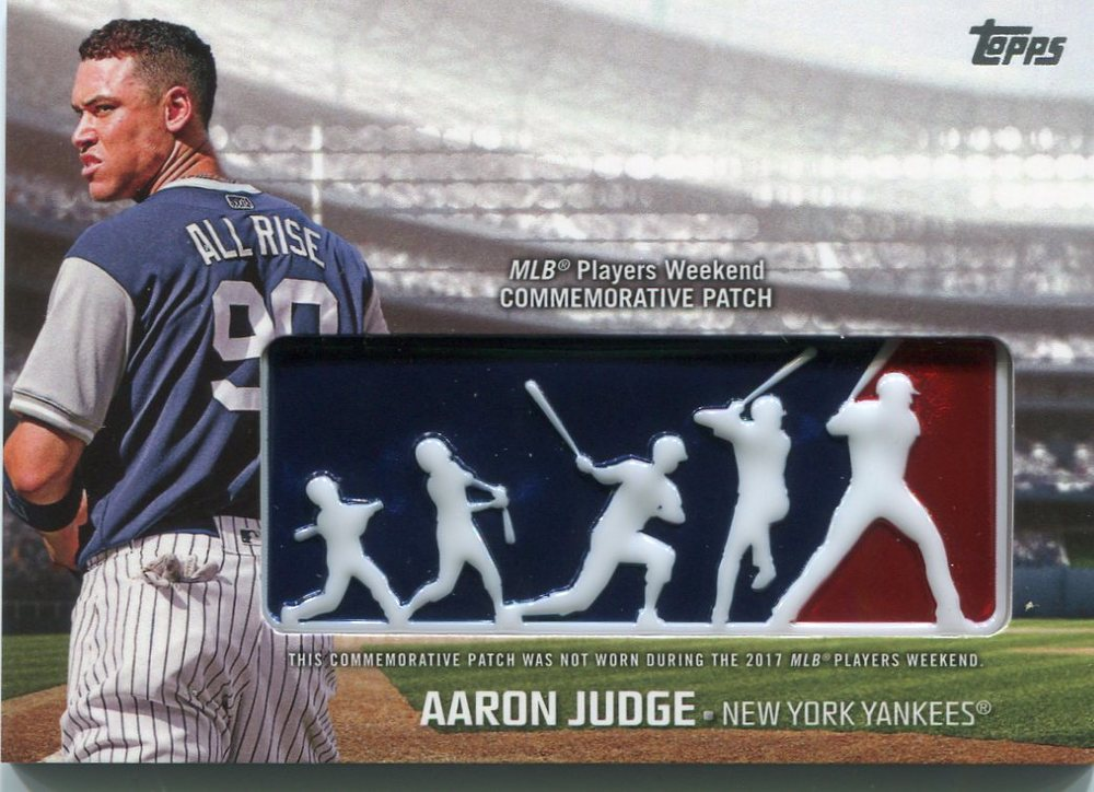 2018 Topps Players Weekend Patches #PWPAJU Aaron Judge