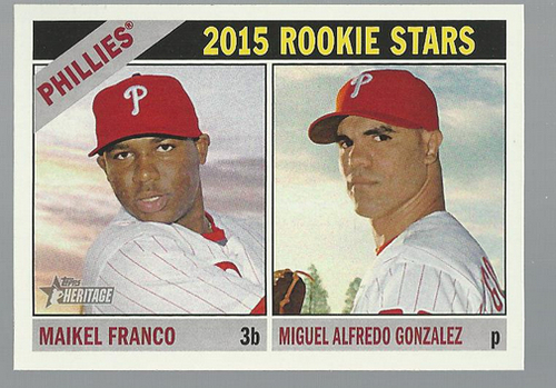 Photo of 2015 Topps Heritage #254 Maikel Franco RC/Miguel Alfredo Gonzalez RC