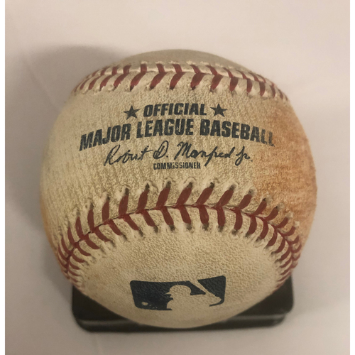 Photo of Nick Markakis Game-Used Hit Double Baseball - 5/18/18