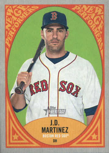 Photo of 2019 Topps Heritage New Age Performers #NAP3 J.D. Martinez