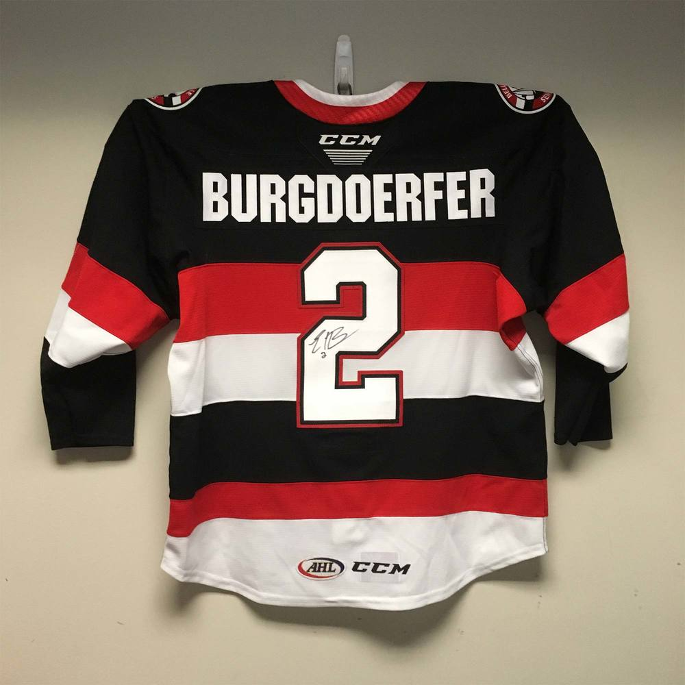 Belleville Senators Captains Jersey worn by #2 Erik Burgdoerfer