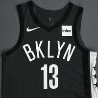Shabazz Napier - Brooklyn Nets - 2018-19 Season - Game-Worn Gray Statement Edition Jersey