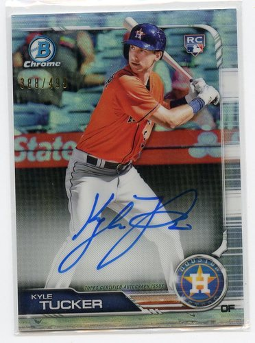 Photo of 2019 Bowman Chrome Rookie Autographs Refractors #CRAKT Kyle Tucker