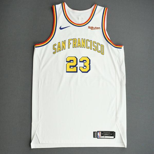 Image of Draymond Green - Golden State Warriors - Game-Worn Classic Edition - 1962-63 San Francisco Home Jersey - 2019-20 NBA Season